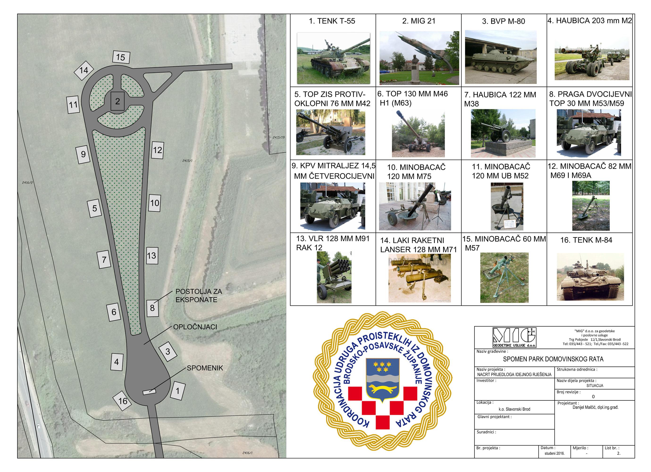 Uskoro u Slavonskom Brodu započinje izgradnja Spomen parka Domovinskog rata