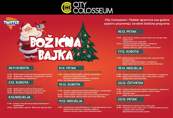 BOŽIĆNA BAJKA U CITY COLOSSEUMU