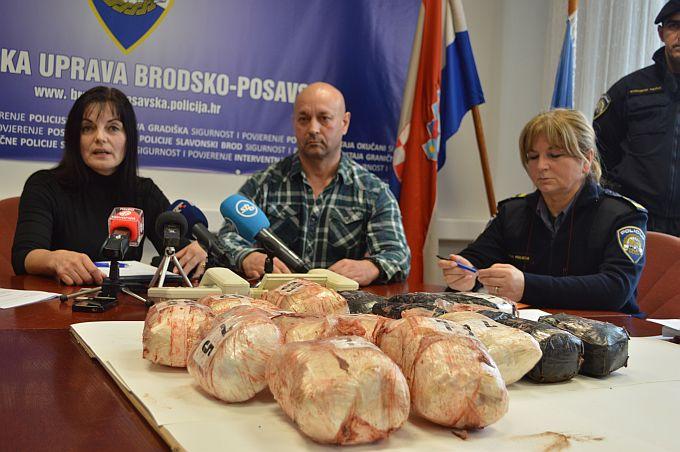"""Na """"Balkanskoj ruti"""" živo, na slavonskobrodskoj granici """"skinuto"""" 10 kilograma heroina"""