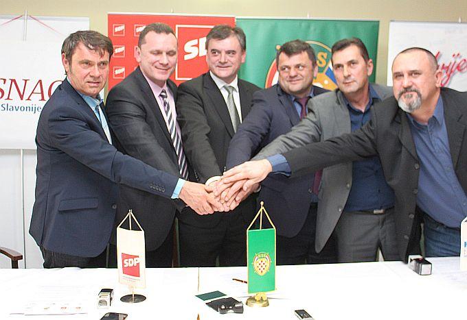 Šest stranaka okupljenih u koaliciju predvođenu HSS-om i SDP-om planiraju preuzeti vlast od HDZ-a na nivou županije