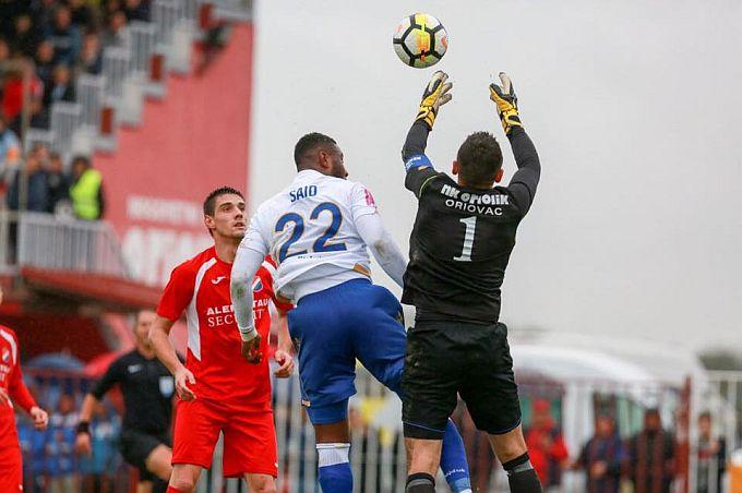 Josip Herceg, vratar Oriolika, unatoč tri primljena Hajdukova gola, iskazao se s nekoliko sjajnih obrana