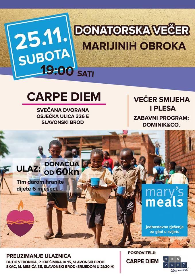 """Volonteri """"Marijinih obroka"""" organiziraju donatorsku večer, sa 60 kuna jedno dijete ima svakodnevni topli obrok čak šest mjeseci"""