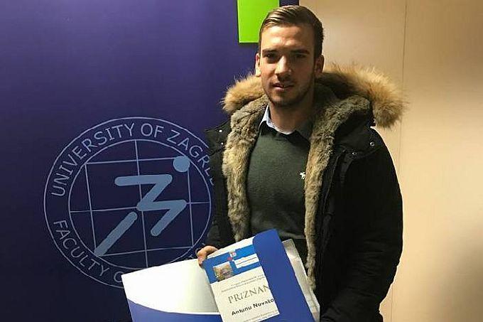 Antun Novaković proglašen najuspješnijim sportašem Kineziološkog fakulteta