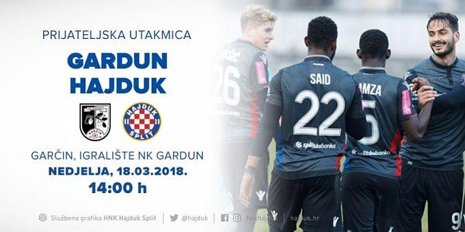 Nogometaši Hajduka u prijateljskoj utakmici protiv NK Gardun iz Garčina
