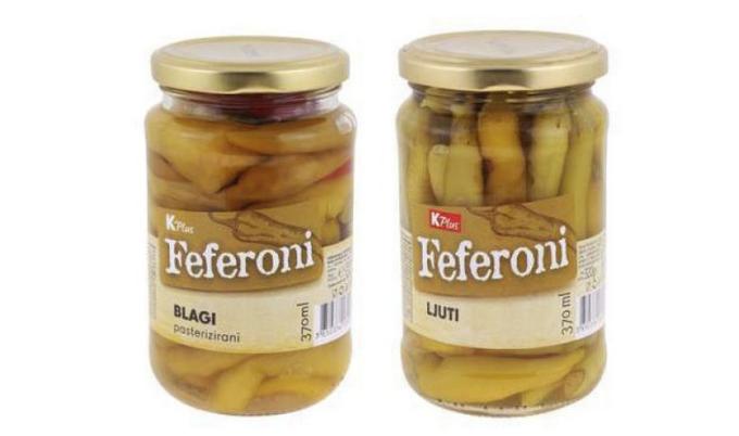 """Ministarstvo obavijestilo: Povlače se """"K plus"""" feferoni u staklenkama"""