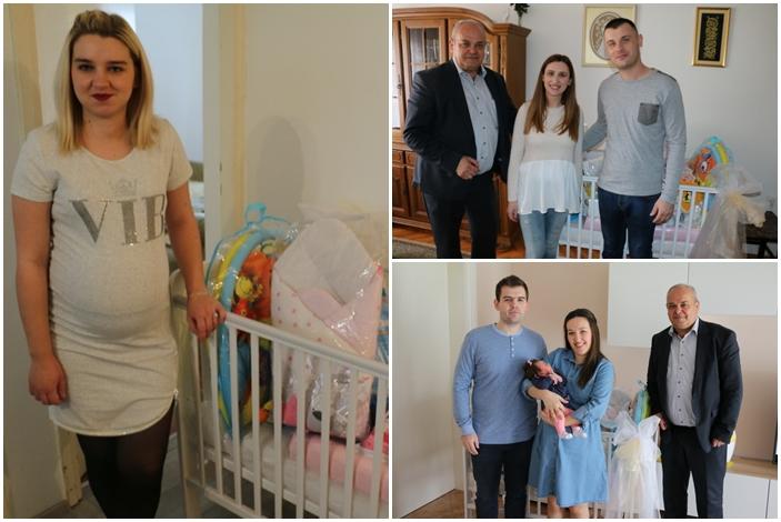 Gradonačelnik darovao prve pakete opreme brodskim bebama i njihovim roditeljima