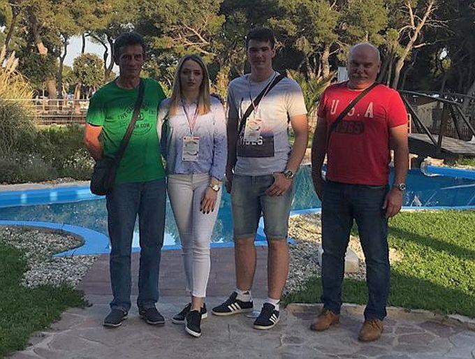 Na državnom natjecanju u sektoru promet i logistika, u Šibeniku, naši su učenici Marina Miljak i Manuel Miljević