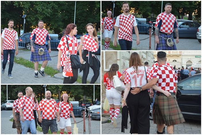 Uz kockice, jučer su navijači u Slavonskom Brodu nosili i škotski kilt
