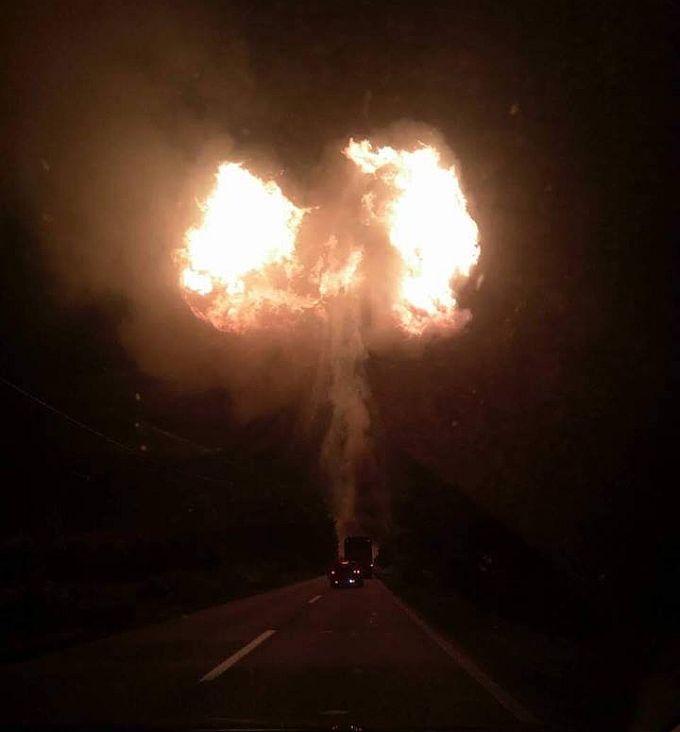 U eksploziji cisterne, koju smo i mi čuli i osjetili, prisebnošću vozača nije se dogodilo veće zlo