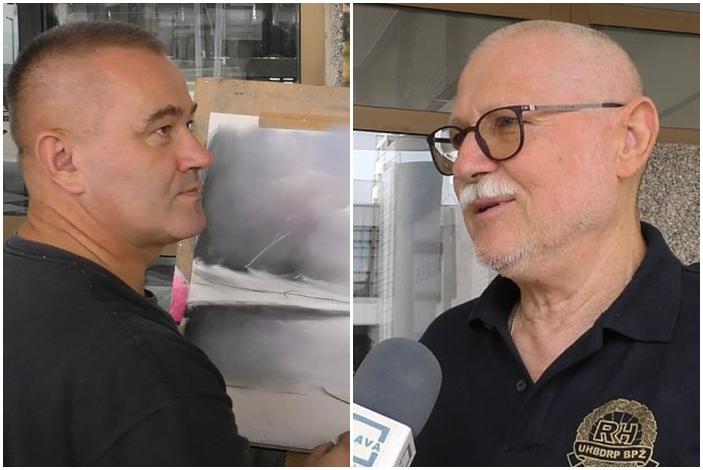 Matošević i Odobašić branitelji su Domovinskog rata, slikanje im i danas pomaže, daje im mir
