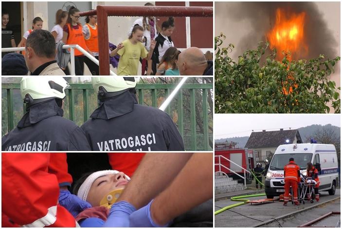 Danas su se u Sibinju čule sirene za uzbunu, dogodio se potres, požar, spašavanje djece, sva sreća bila je to samo vježba