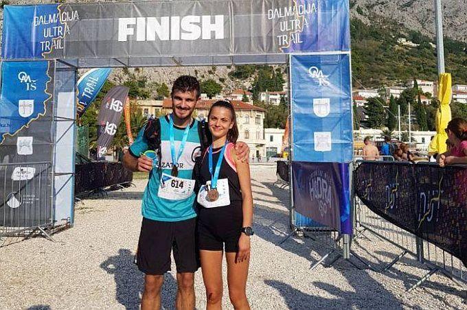 Odličan nastup članova UMK Mazator, Ines i Marko na stazama Dalmacija Ultra Traila