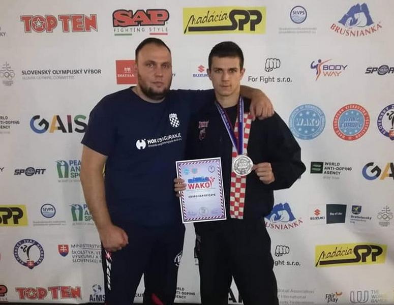 Matej Lebo viceprvak Europe u kickboxingu
