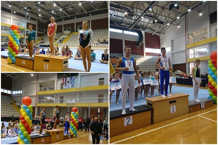 Žuljevi, rad, red i disciplina, brodski gimnastičari Magdalena, Dominik i Filp s medaljama oko vrata