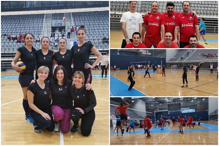 "Brodski rekreativci, cure i dečki, članovi sportsko rekreativne udruge ""Živim sport"" na  III. Vet's volley Osijek 2019."