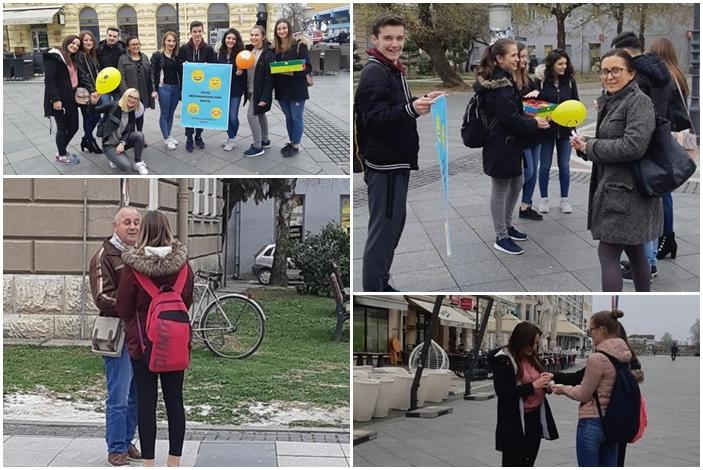 Sreću su sa sugrađanima podijelili mladi medicinari, članovi Volonterskog kluba Hipokrat