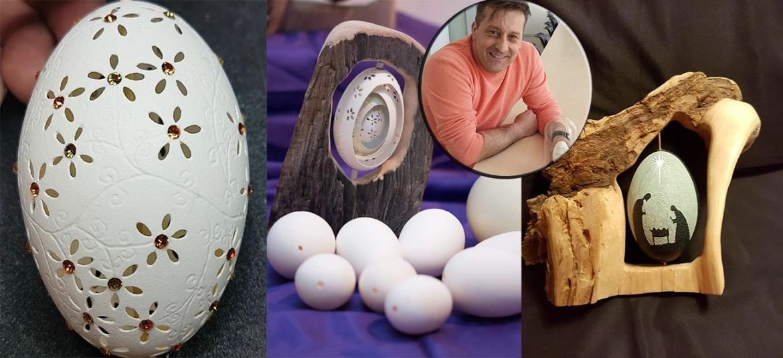 Brođanin Zoran Lucić, već 20 godina s austrijskom adresom, umjetnošću ocrtavanja jaja osvaja svijet