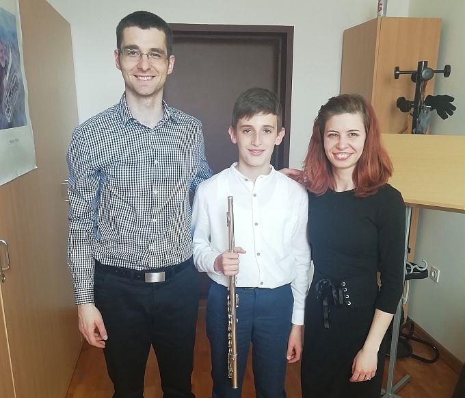 Mladi flautist Bono Peić odličan na svom prvom natjecanju