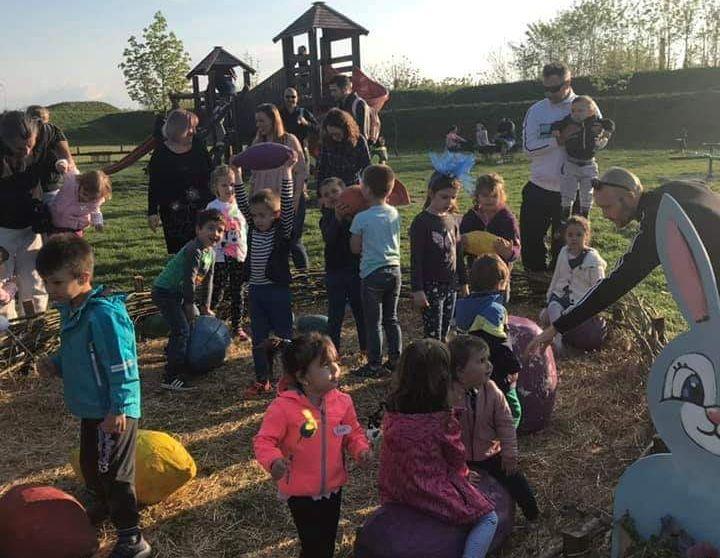 Djeca su u Tvrđavi uživala u raznim igrama, pjesmama i izradi prigodnih uskrsnih motiva
