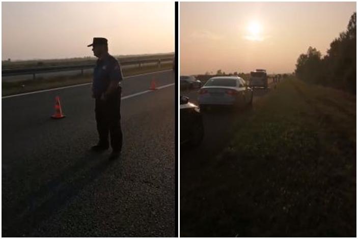 S kolnika autoceste A3, u blizini Bukovlja, sletio je automobil,  došlo je do zapaljenja vozila u kojem su se nalazile osobe, požar se gasi