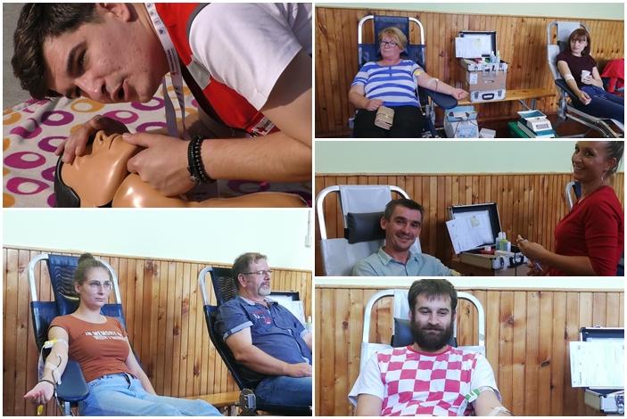 I Slavonski Brod obilježio je Svjetski dan prve pomoći, volonteri Crvenog križa prezentirali znanja i vještine, u Kopanici akcija darivanja krvi
