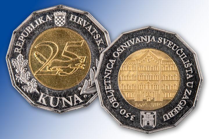HNB izdao novu kovanicu od 25 kuna
