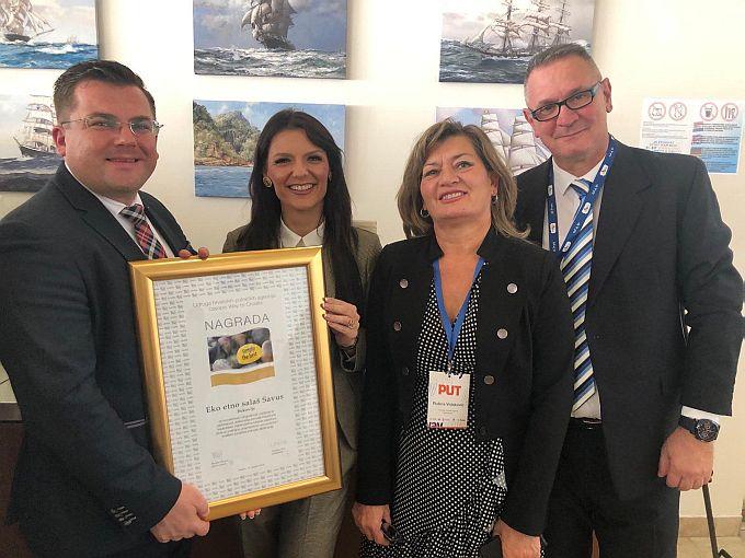 Eko etno salaš SAVUS  dobitnik nacionalne godišnje nagrade Simply the Best u kategoriji novi projekt u turizmu