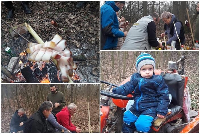 """Naši Vrbljani danas u šumi, peku """"slaninsku ružu"""" i pomalo prikupljaju još malo drva za zimu"""