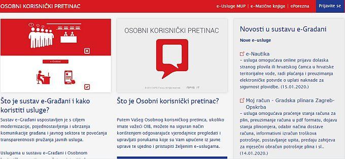 Nešto više od 800 korisnika može iskoristiti nove tri usluge u sustavu e-Građani