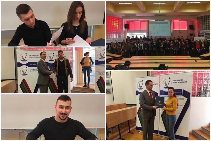 Čak 79 brodskih studenata Veleučilišta u Slavonskom Brodu potpisalo je ugovore o stipendiranju, tisuću kuna mjesečno dobro će doći svima