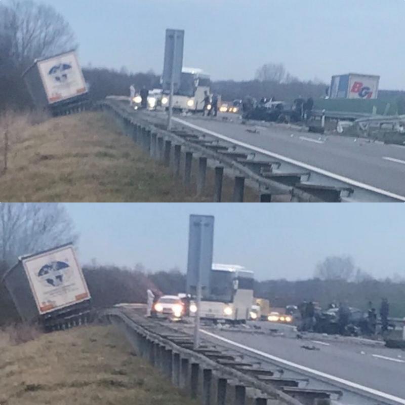Teška prometna nesreća na autocesti kod Zadubravlja