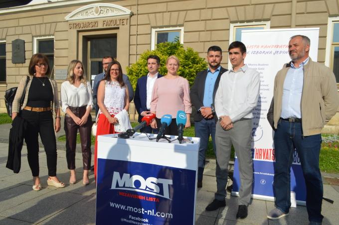 Most nezavisnih lista predstavio je jučer svoje kandidate za V. izbornu jedinicu