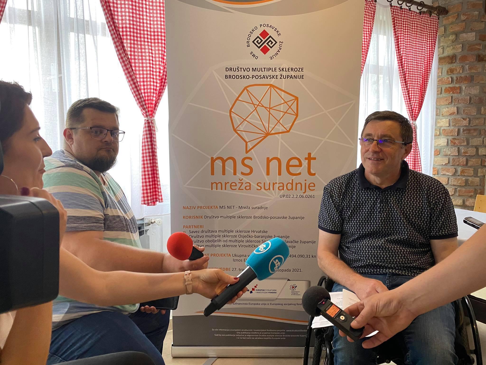 """Društvo multiple skleroze Brodsko-posavske županije organiziralo je uvodnu konferenciju projekta """"MS Net – Mreža suradnje""""  na Jezeru Zeleno srce"""