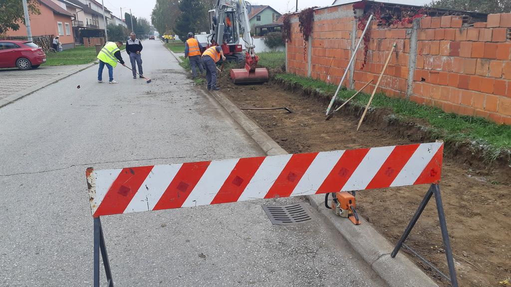 Započela izgradnja pješačko-biciklističke staze u Ulici Augustina Kažotića