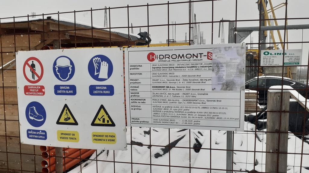 Pregled radova na gradilištu poduzetničkog inkubatora