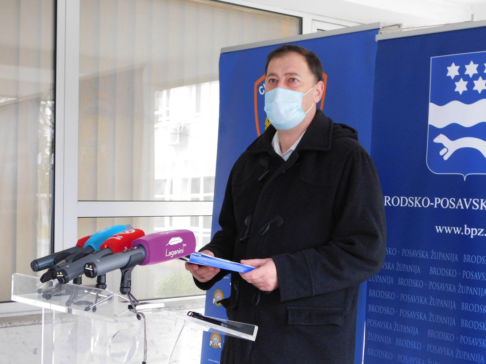 U Brodsko-posavskoj županiji danas 39 novih pozitivnih osoba, jedna osoba je preminula