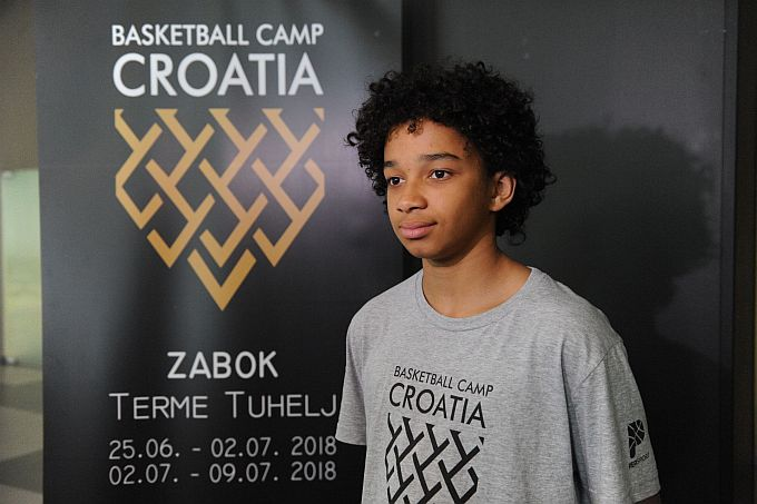 Na košarkaškom kampu koji stvara zvijezde i mladi Malik Ndiaye Cvijanović iz Slavonskog Broda