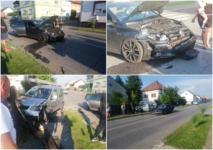 U naselju Mali Pariz danas se dogodila prometna nesreća u kojoj su dvije osobe zadobile lakše tjelesne ozljede