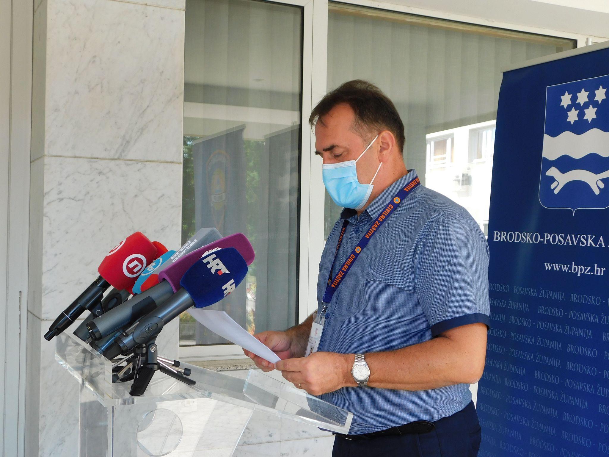 U Brodsko-posavskoj županiji danas 1 nova pozitivna osoba na koronavirus