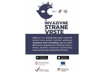 Ministarstvo pokrenulo mobilnu aplikaciju za prijavu invazivnih vrsta