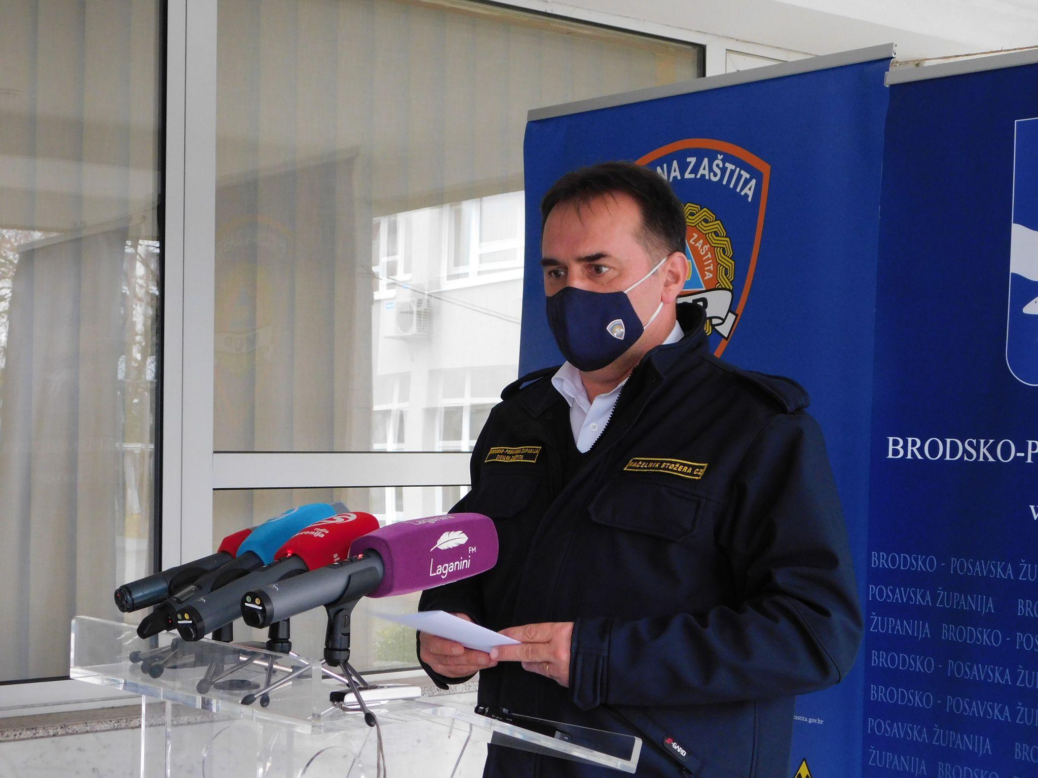 U Brodsko-posavskoj županiji danas 26 novih pozitivnih nalaza, dvije osobe su preminule