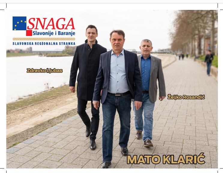 """Snaga Slavonije i Baranje na ove izbore izlaze pod sloganom """"Krenimo zajedno"""""""